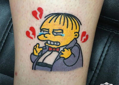 cartoon tattoo de los simpsons
