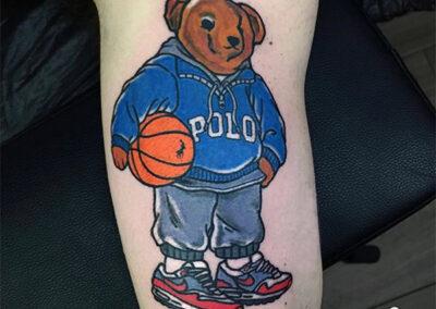tatuajes new school de un oso