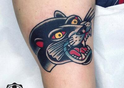 tatuajes old school de pantera