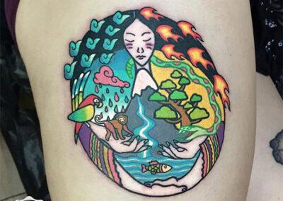 tatuajes a color | tatuajes mujer