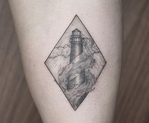 tatuajes finos de un faro   Cornelius Tattoo