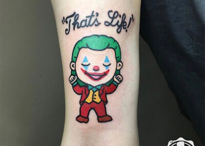 cartoon tattoo de Joker