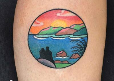 cartoon tattoo | tatuaje para parejas