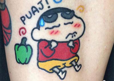 cartoon tattoo de shinchan