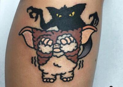 cartoon tattoo | tatuajes en la pierna