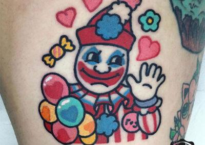cartoon tattoo de payaso