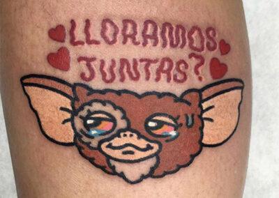 cartoon tattoo de los Gremlins