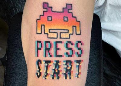 tatuajes a color retro