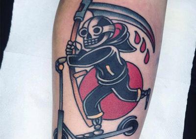 tatuajes old school de la muerte