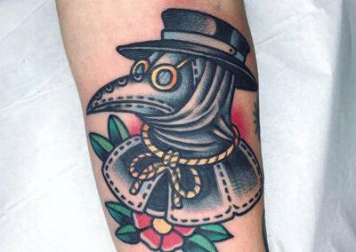 tatuajes old school simbolo peste