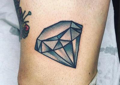 tatuaje tradicional de un diamante