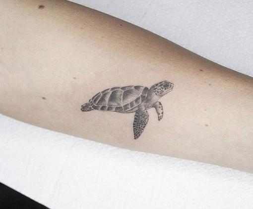 mini tattoo tortuga