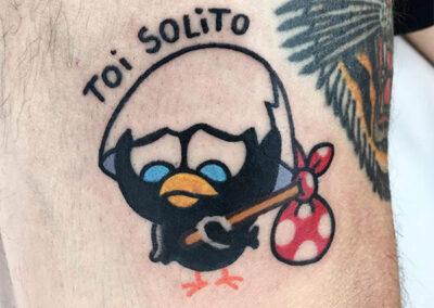 cartoon tattoo calimero