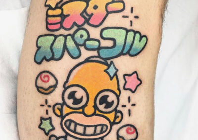 cartoon tattoo de Homer Simpson