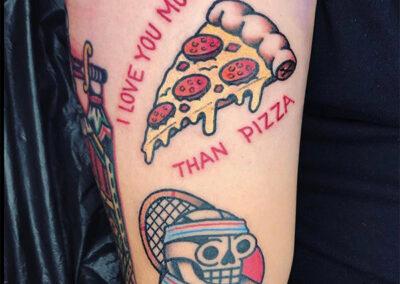 tatuajes old school pizza el bueno