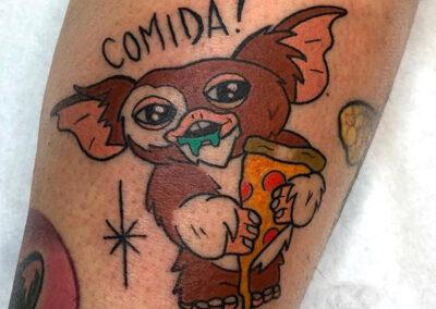 tatuajes a color gremlins
