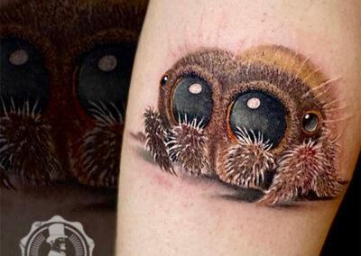 tatuajes realistas lucas the spider