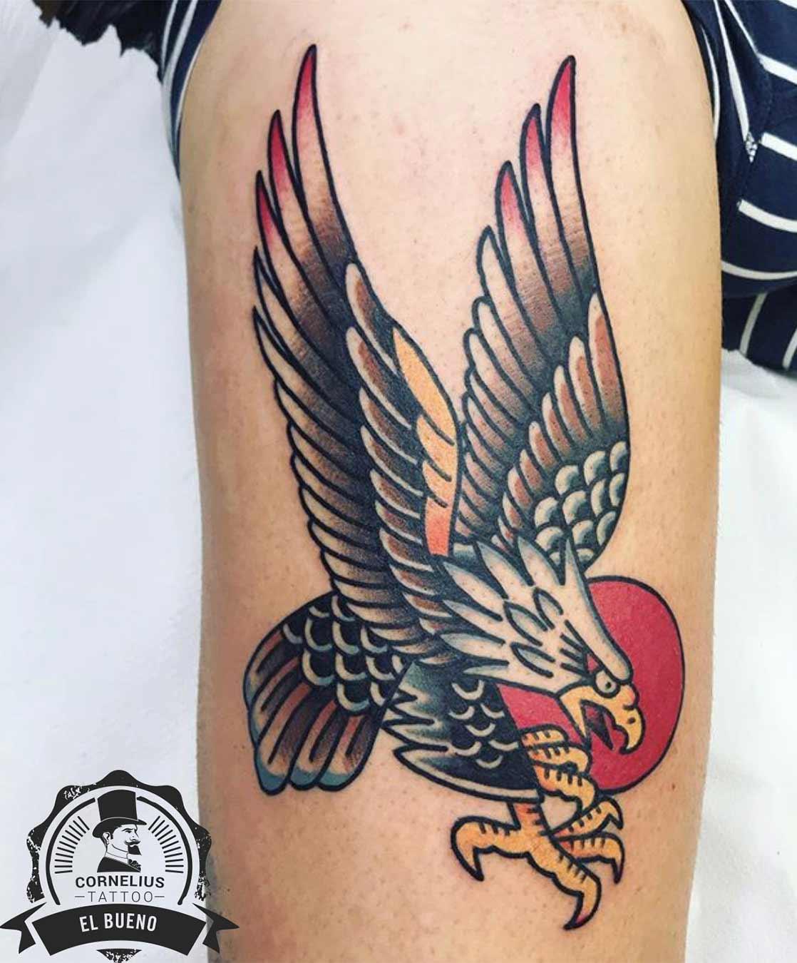 tatuajes old school águila