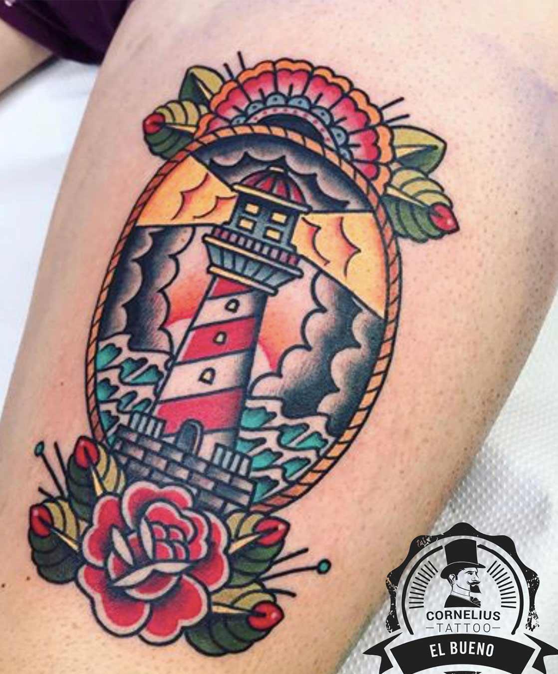 tatuajes old school faro