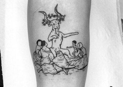 blackwork tattoo goya