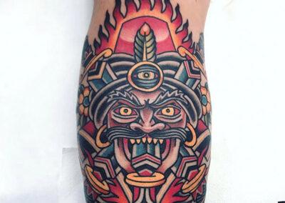 tatuaje tradicional de un faquir