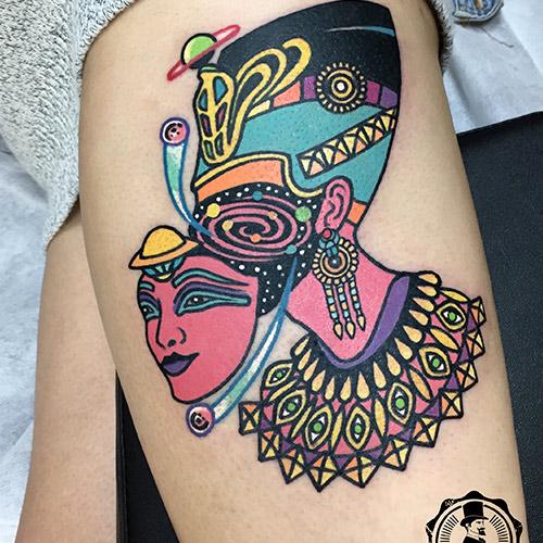 tatuajes en la pierna faraona