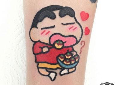 cartoon tattoo de shin chan