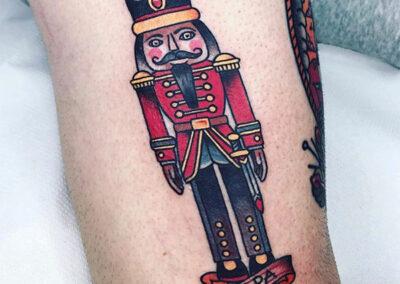 tatuajes old school de un soldadito de plomo