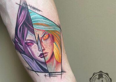 tatuajes en el antebrazo de anime