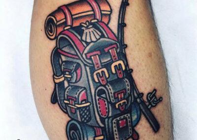 tatuajes old school de mochila