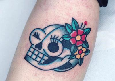 tatuajes old school calavera | elbueno