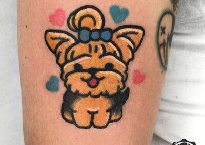 cartoon tattoo perro