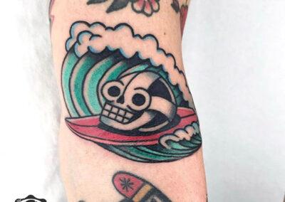 tatuajes old school calavera