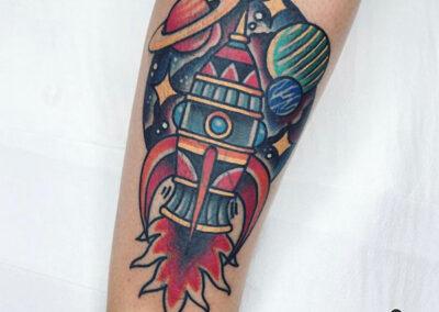 tatuajes old school de cohete
