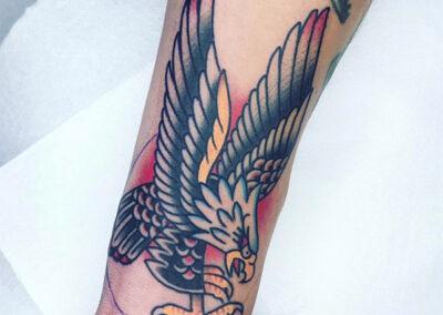 tatuajes old school de un águila