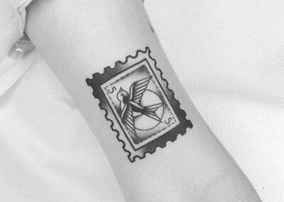 Tatuajes old school de un sello